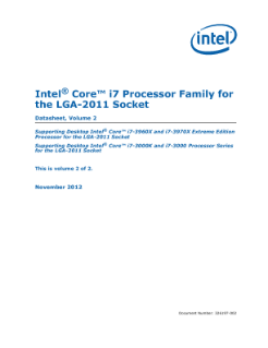 Intel® Core™ i7 Processor Family for the LGA-2011 Socket