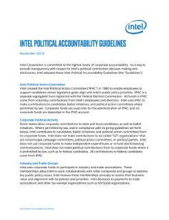 Intel Political Accountability Guidelines November 2016
