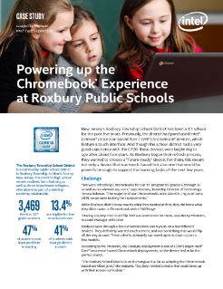 Powering Up the Chromebook* Experience at Roxbury Public Schools