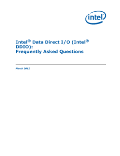 Intel® Data Direct I/O (Intel® DDIO) Frequently Asked Questions (External)