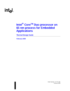 Intel® Core™ Duo Processor on 65-nm Process Thermal Design Guide