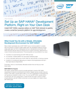 How to Guide: Install SAP HANA* Express Edition on Intel® NUC Devices