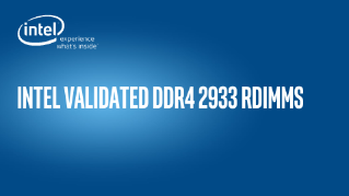 Intel Validated DDR4 2933 RDIMMS