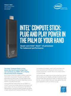 Intel® Compute Stick Puts PC Power in the Palm of Your Hand