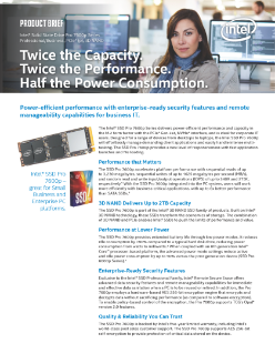Intel® SSD Pro 7600p Series Product Brief