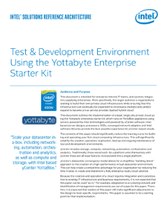 Cloud Infrastructure: The Yottabyte Enterprise* Starter Kit