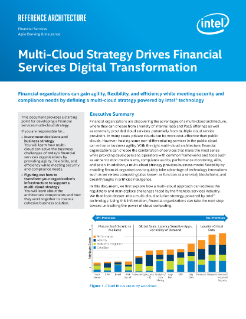 Multi-Cloud for Financial Industry Transformation