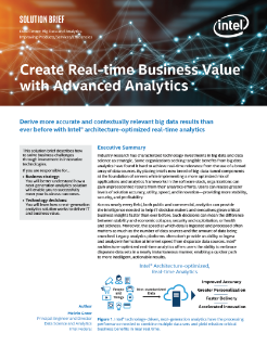 Advanced Analytics Drive Business Outcomes