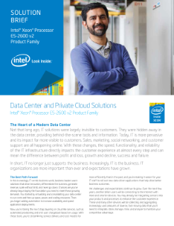 Solution Brief Intel® Xeon® Processor  E5-2600 v2  Product Family