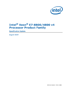 Intel® Xeon® Processor E7-8800/4800 v4 Product Family Spec Update