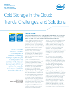 Cold Storage in the Cloud: Trends, Challenges, and Solutions
