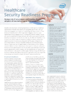 Intel and Partners Assess Healthcare Security Readiness