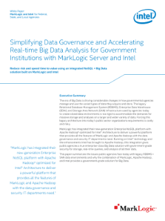 Big Data Solutions for Government Agencies—MarkLogic and Intel